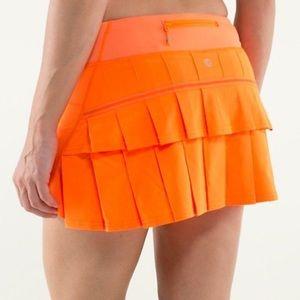 Tangerine lululemon pace setter skirt